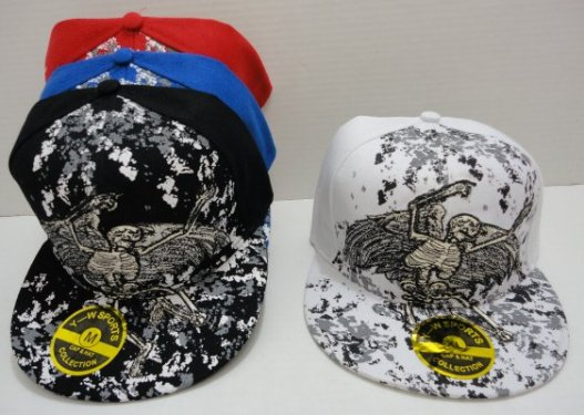 FITTED Hat--Skeleton with Wings