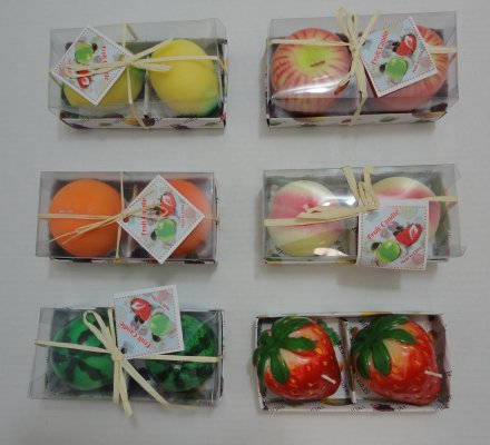 2pk Scented Fruit-Shaped CANDLEs