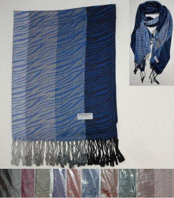 Fashion PASHMINA with Fringe--Zebra Print