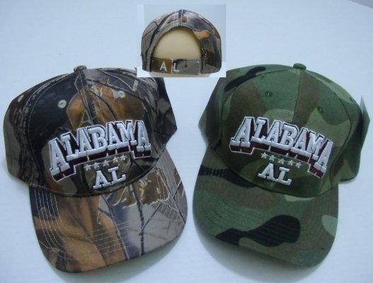 Camo ALABAMA Hat [Hardwoods & ARMY Camo]