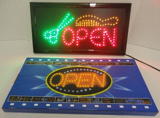 Light Up Sign- OPEN  [SCISSORS & Comb]