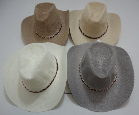 Gray/Tan Summer Mesh COWBOY HAT