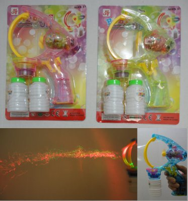 Light-Up BUBBLE GUN with Sound Effects