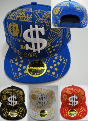 Snap Back Flat Bill Hat [Glitter CARDs & Dice]