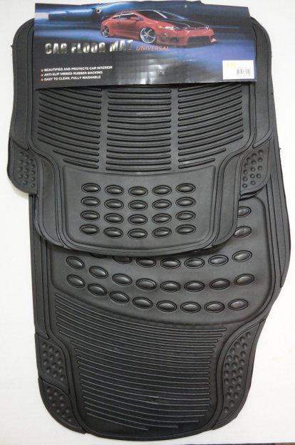 4pc Heavy Duty FLOOR MATs [Black]
