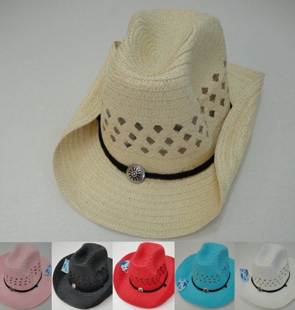 Mesh COWBOY HAT with Medallion on HAT Band