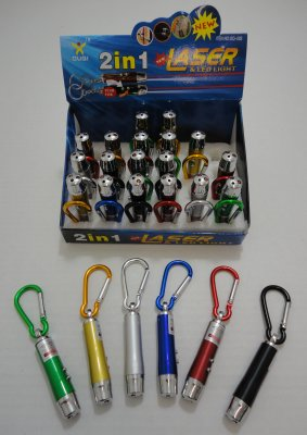 2 in 1 Laser & LED Light with KEYCHAIN Clip