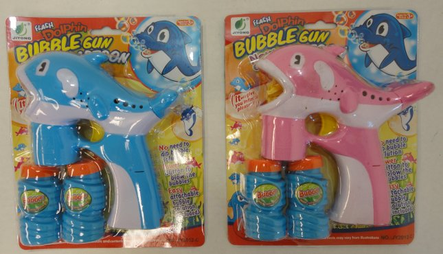 Light-Up BUBBLE GUNs with Sound--Dolphin
