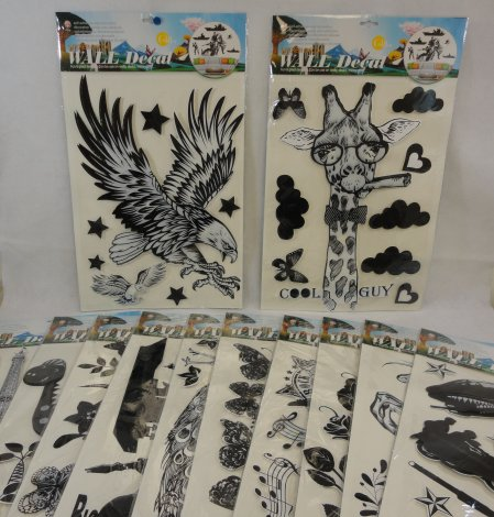 Wall Decor STICKERS [Black & White Assortment]