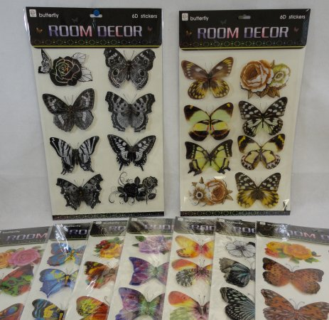 Wall Decor STICKERS [Butterfly Assortment]