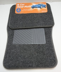 4pc Car Mats-Dark Gray