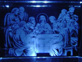 3D Laser Etched Crystal-The Last Supper