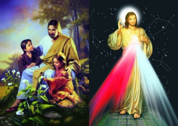 3D Picture 62--Jesus with Stars/Jesus with Children