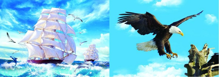 3D Picture 74--Sailboat/Flying Eagle