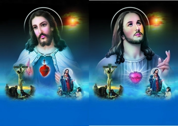 3D Picture 85--Jesus with Smaller Images