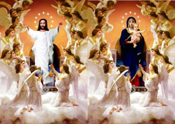 3D Picture 84--Jesus with Angels/Mary with Angels