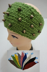 Hand Knitted Ear Band with Spikes