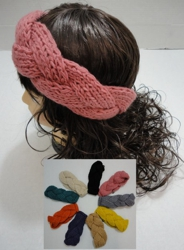 Hand Knitted Ear Band [Braided Loop]