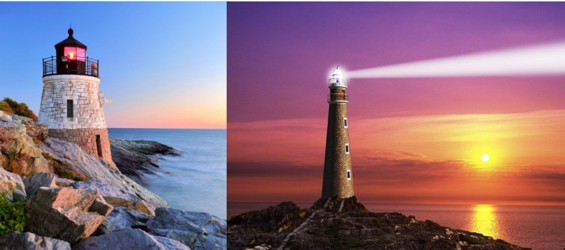 3D Picture 9607--Lighthouses
