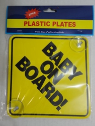 BABY ON BOARD Suction Cup car Sign [2pk]