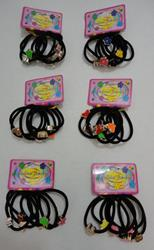 6pc Hair Band with Metal Decoration