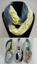Light Weight Infinity Scarf-Lg/Sm Polka Dots