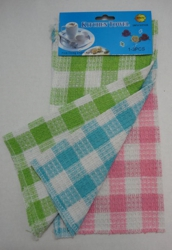 3pk Dish Cloth-Gingham