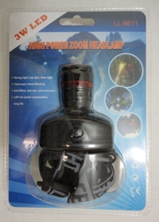 3W High Power Zoom Headlamp