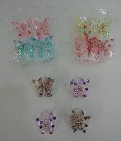 4pc Pastel Butterfly Claw Clip