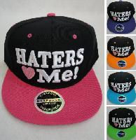 Snap Back Flat Bill Hat [Haters Love Me]
