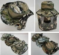 Floppy Camo Boonie Hat with Netting (Mesh Sides)
