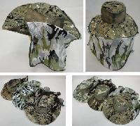 Assorted Camo Boonie Hat with Netting (Mesh Sides)