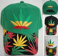 TriColor Leaf Hat with Screen Print Bill