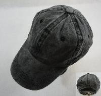 Washed Cotton Ball Cap [BLACK]