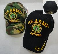 Licensed US Army RETIRED Ball Cap *Assorted Colors