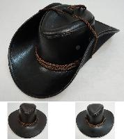 Shiny Leather-Like Cowboy Hat