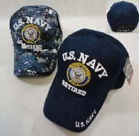 Licensed US Navy RETIRED Ball Cap *Assorted Colors