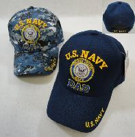 Licensed US Navy DAD Ball Cap-Assorted Colors