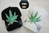 Marijuana Leaf Hat with Shadow on Bill