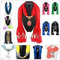 "MIX & MATCH SCARF/NECKLACE with CHARMS - <span style=""color:red"">ON SALE UP TO 75% OFF</span>"