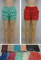 Ladies Fashion Crochet Shorts
