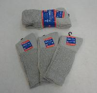 3pr Gray Diabetic Crew Socks 10-13