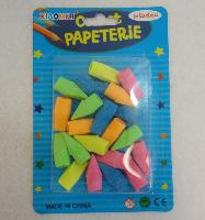 20pk Neon Pencil Top Erasers