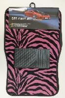 4pc Car Mats-Black & Pink Zebra Print