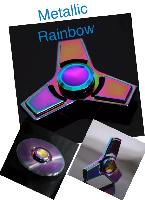 "Fidget Spinner--Rainbow Anodized Tri-Spinner - <span style=""color:red"">Price from $3.00ea to $2.25ea</span>"