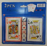 2pc Playing Card with Dice