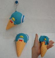 Slow Rising Squishy Toy Key Chain *Penguin In Cone