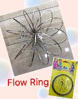 "Flow Rings Kinetic Spring Toy--Silver 5"" Flat-Yellow Package - <span style=""color:red"">HOT TOY IN THE MARKET</span>"