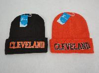 Knitted Toboggan [Embroidered CLEVELAND]*Brown/Orange
