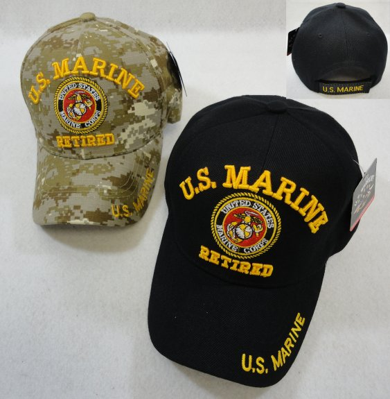 LICENSED US Marine RETIRED Ball Cap *Assorted Colors